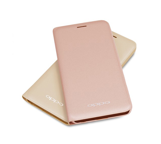 OPPO A39 原廠側掀皮套 粉